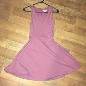 Bar III pink skater dress